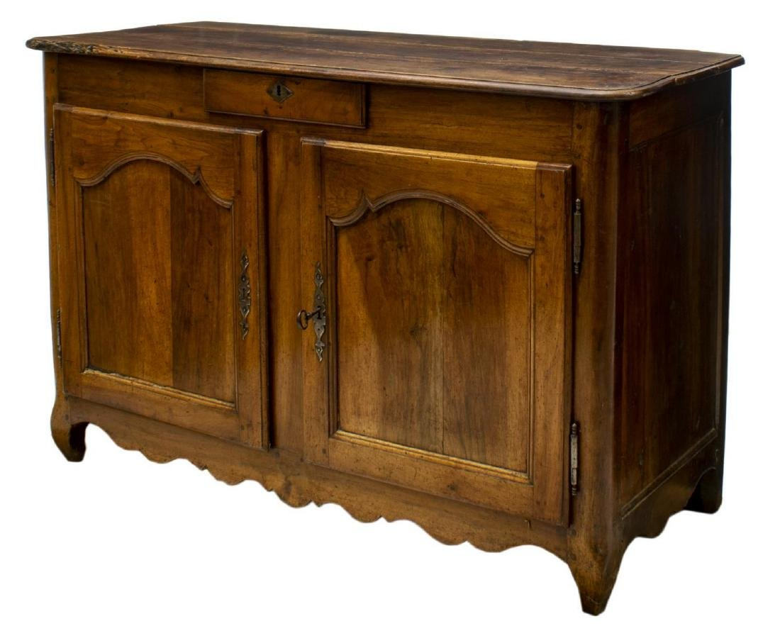 FRENCH LOUIS XV FRUITWOOD SIDEBOARD, LATE 18TH C.