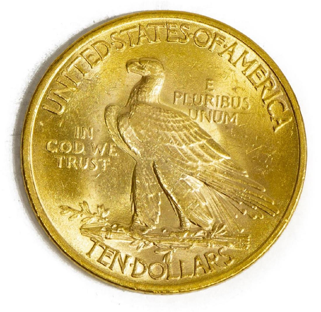 U.S. $10 GOLD TEN DOLLAR 1932 INDIAN HEA D COIN - 2