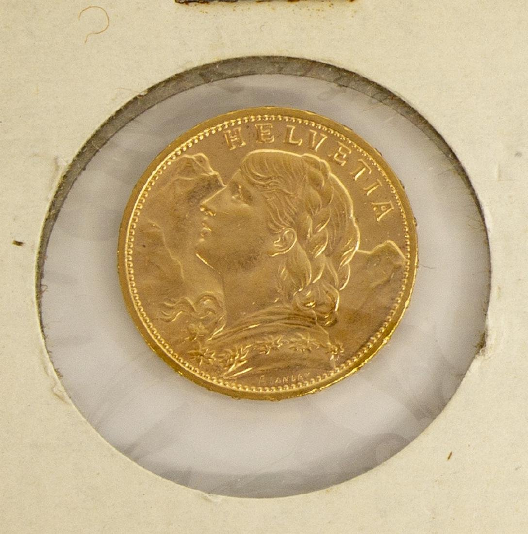 (3) GOLD COINS, SWISS, SPAIN, MEXICO - 3