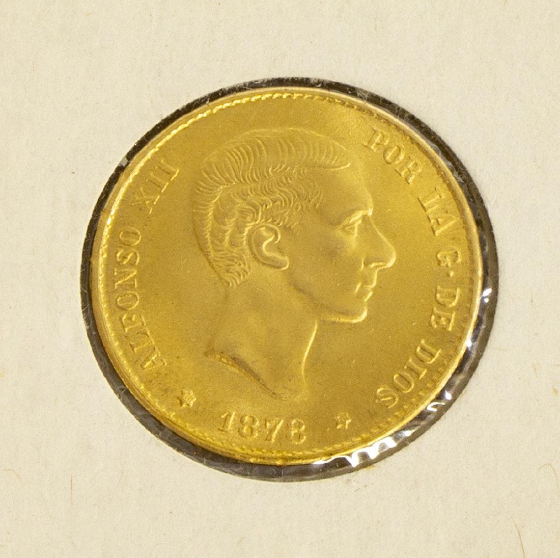 (3) GOLD COINS, SWISS, SPAIN, MEXICO - 4