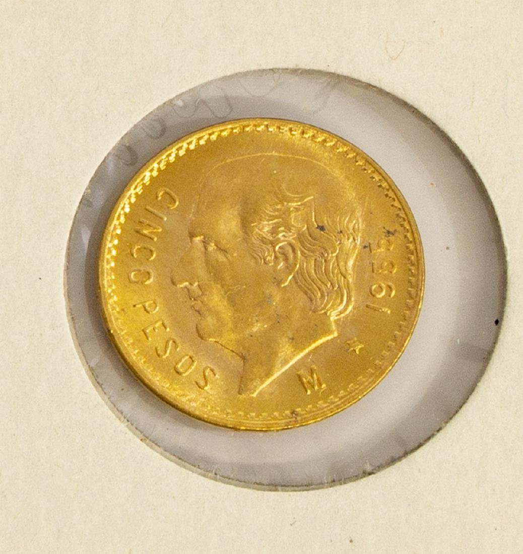 (3) GOLD COINS, SWISS, SPAIN, MEXICO - 5