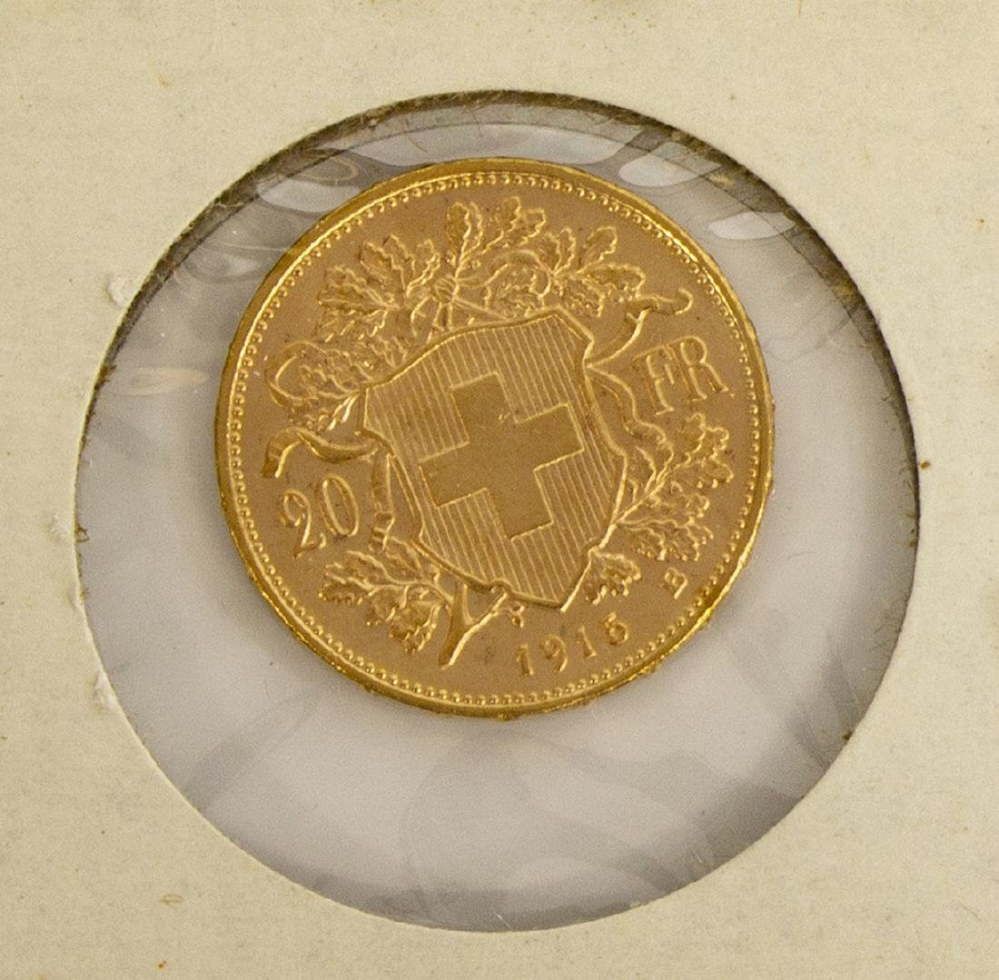 (3) GOLD COINS, SWISS, SPAIN, MEXICO - 6