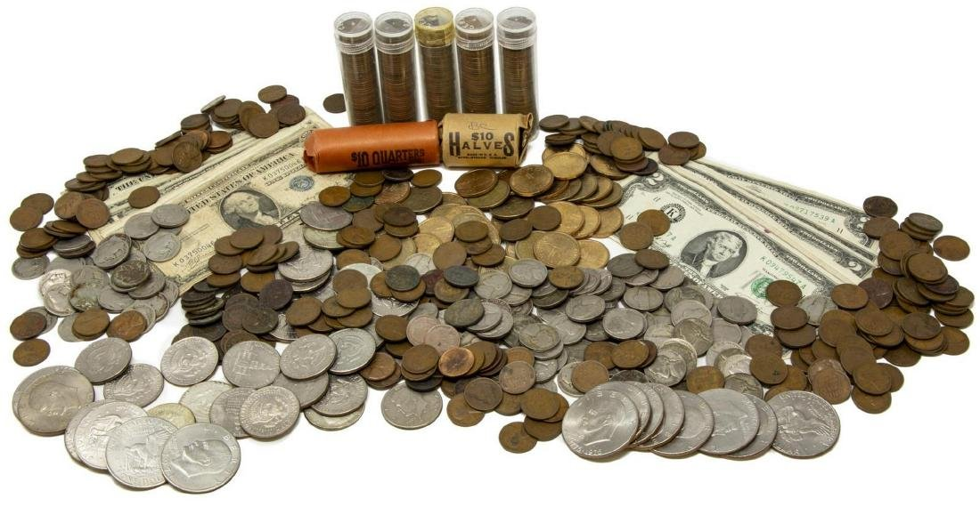U.S. CURRENCY & COINS, LARGE QUANTITY