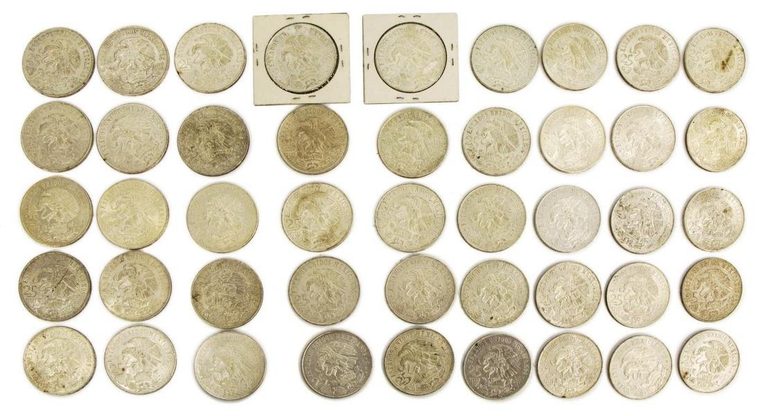 (45) MEXICO 1968 OLYMPIC 25 PESO COINS
