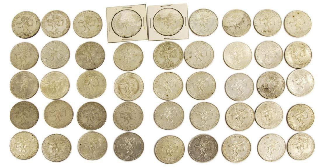 (45) MEXICO 1968 OLYMPIC 25 PESO COINS - 2