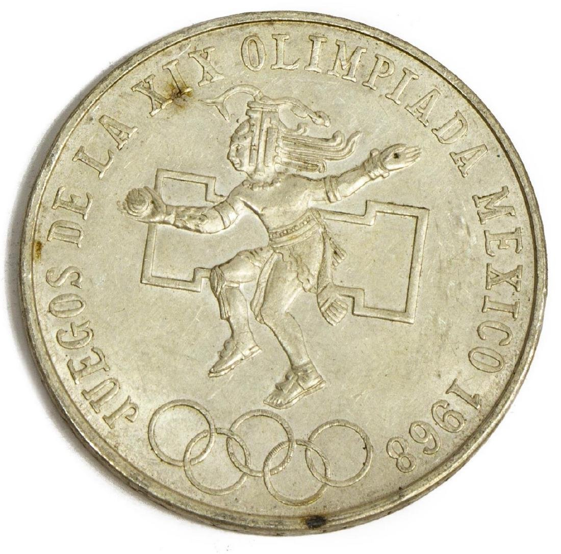 (45) MEXICO 1968 OLYMPIC 25 PESO COINS - 3