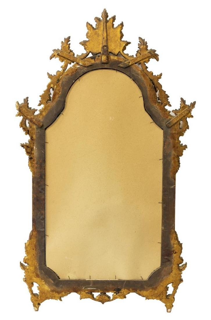 LOUIS XV STYLE ROCAILLE GILTWOOD WALL MIRROR - 3