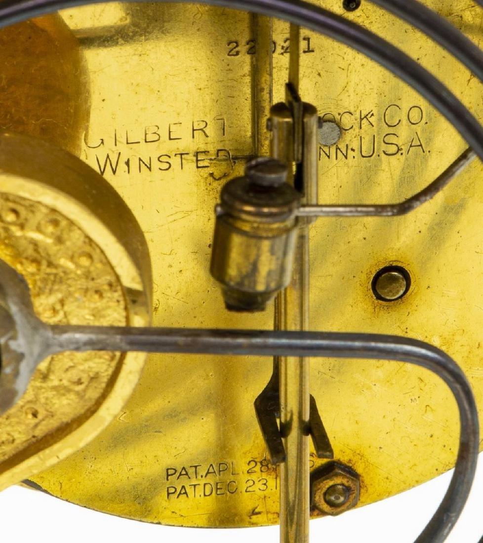 WILLIAM GILBERT 'VISTA' REGULATOR MANTEL CLOCK - 7