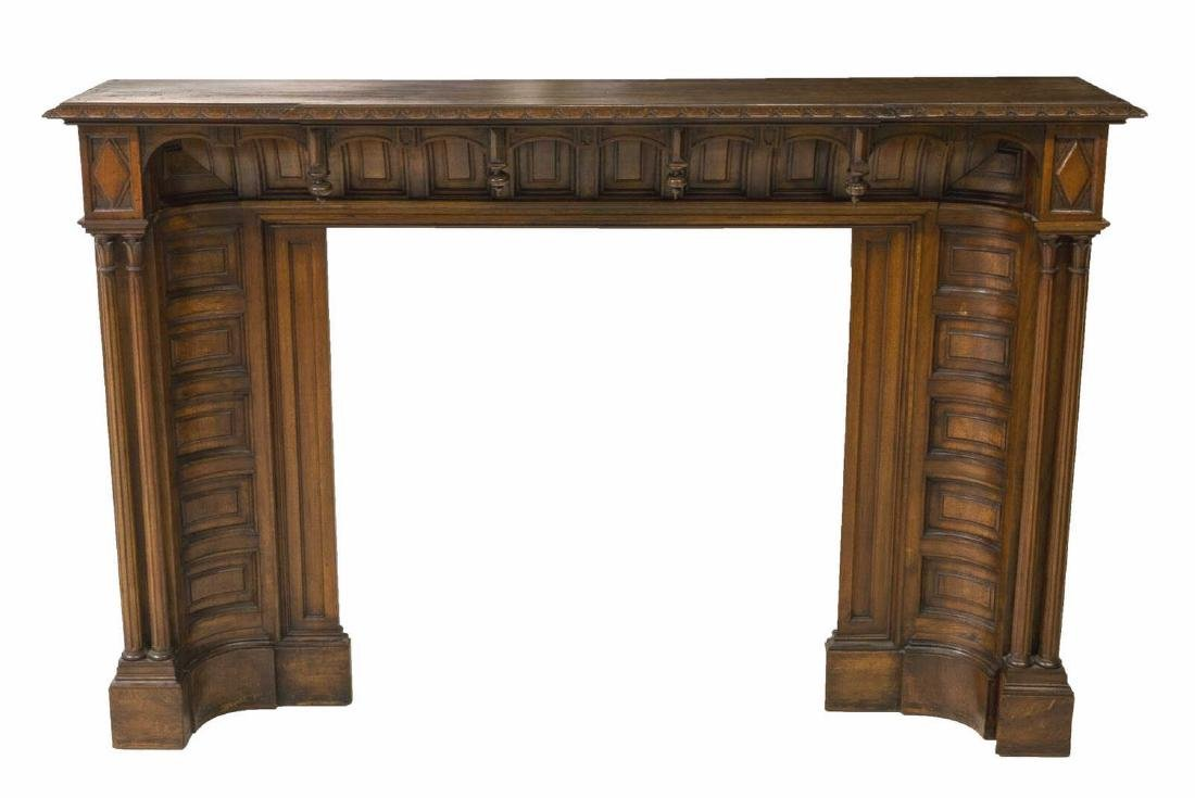ITALIAN GOTHIC STYLE FIREPLACE MANTLE SURROUND