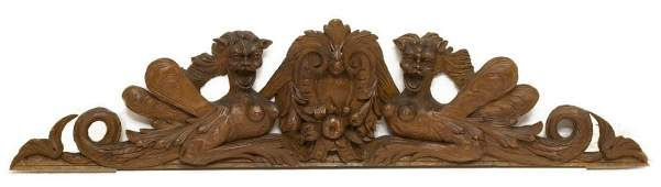 ANTIQUE ITALIAN CARVED ARCHITECTURAL ELEMENT