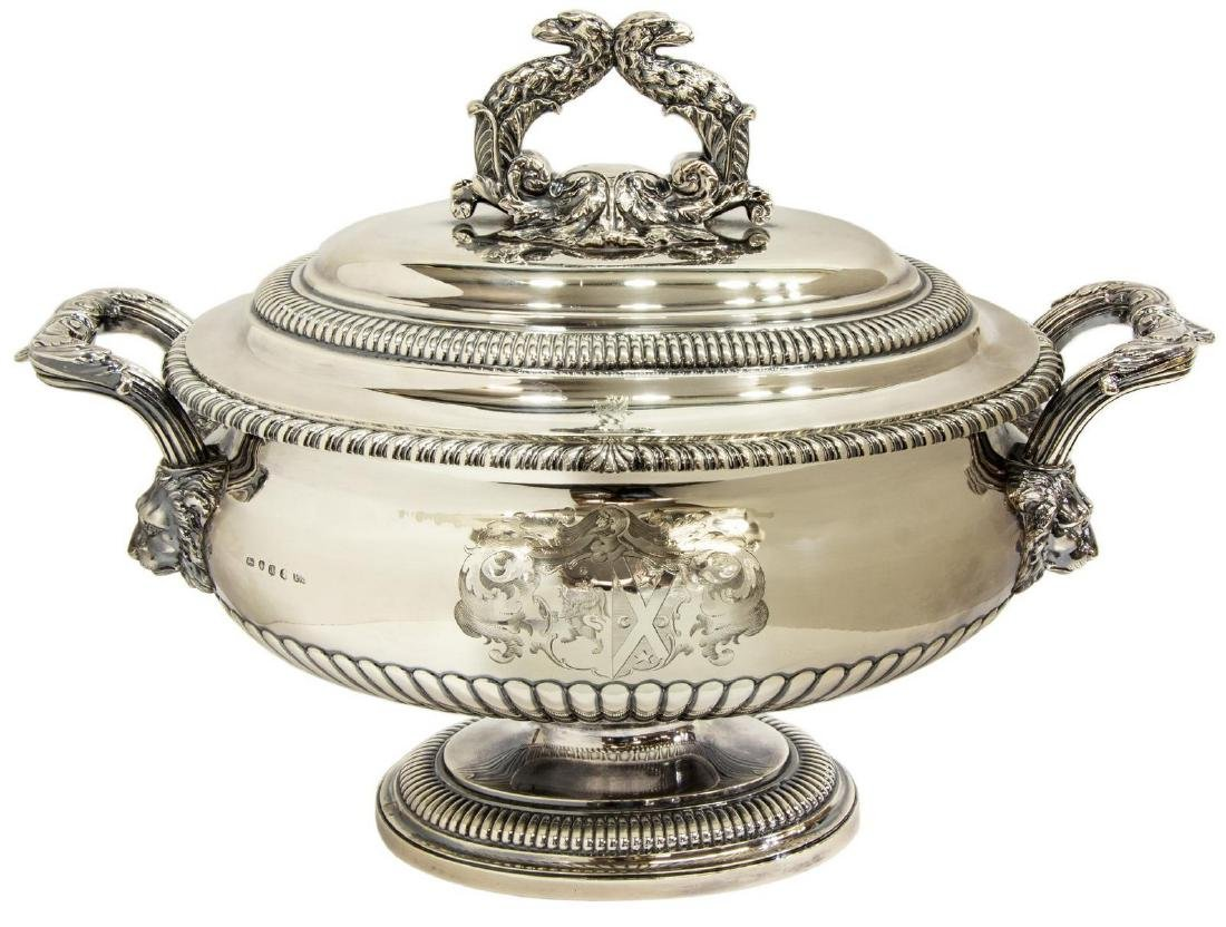 MAGNIFICENT PAUL STORR STERLING COVERED TUREEN