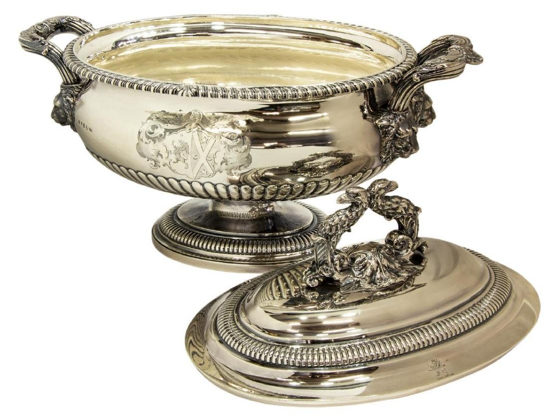 MAGNIFICENT PAUL STORR STERLING COVERED TUREEN - 2