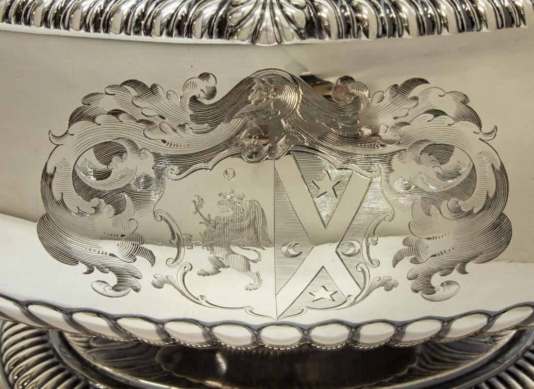 MAGNIFICENT PAUL STORR STERLING COVERED TUREEN - 3