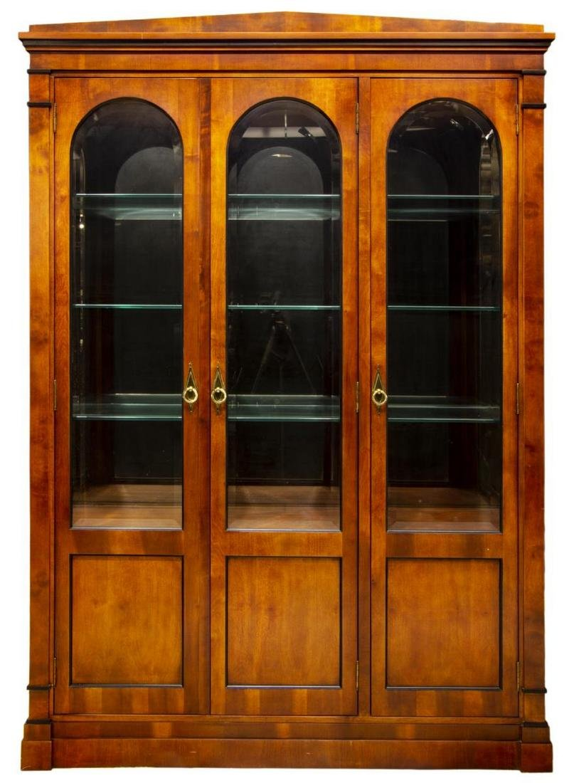 CENTURY LIGHTED BEVELED GLASS DISPLAY CABINET - 2