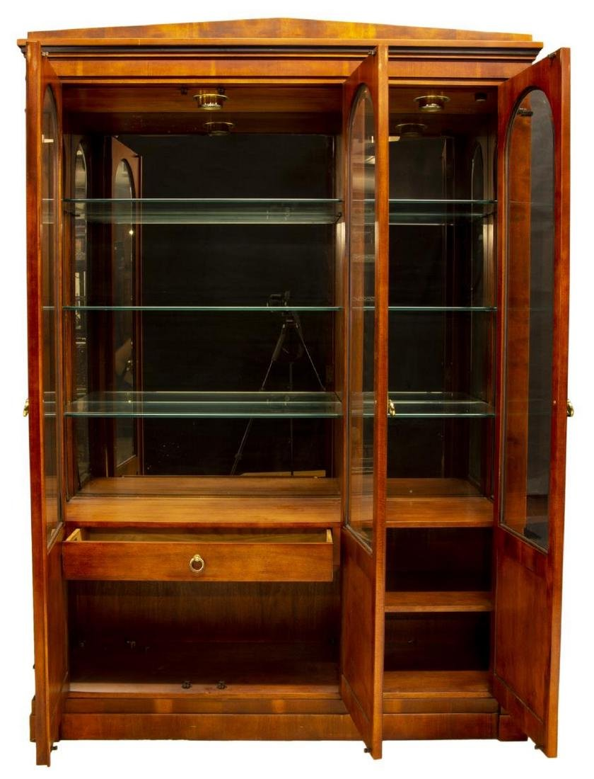 CENTURY LIGHTED BEVELED GLASS DISPLAY CABINET - 3