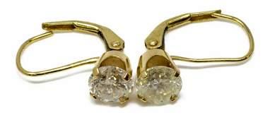 ESTATE 14KT GOLD & 1.50CTTW DIAMOND EARRINGS