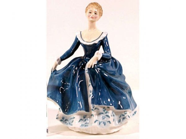 "502: ROYAL DOULTON PORCELAIN FIGURE ""JANINE"" HN 2461"