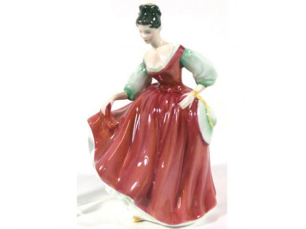 "503: ROYAL DOULTON PORCELAIN FIGURE ""FAIR LADY"", SIGNED"