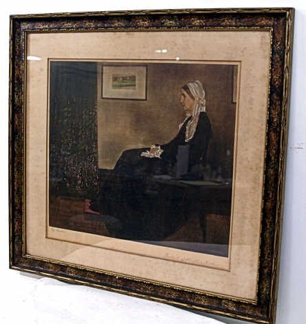 "523: LITHOGRAPH ""WHISTLER'S MOTHER"", WHISTER, AMERICAN"