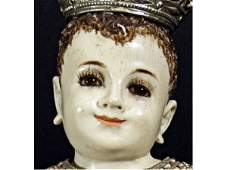 642 SPANISH COLONIAL CARVED IVORY RELIGIOUS FIGURE