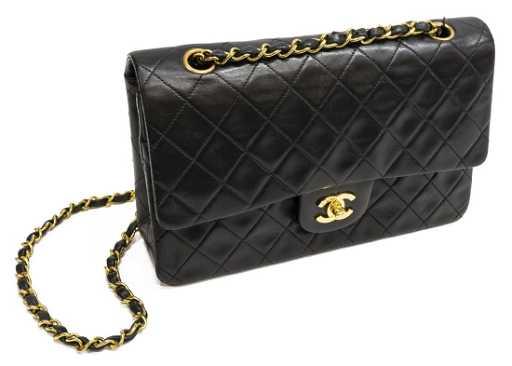 3013e22a2537 CHANEL BLACK MEDIUM CLASSIC SHOULDER BAG