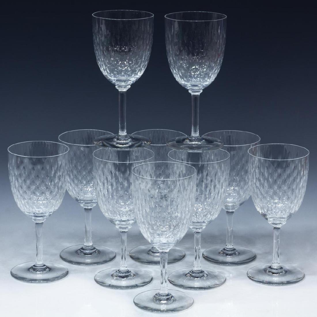 (10) BACCARAT 'PARIS' CRYSTAL TALL WATER GOBLETS