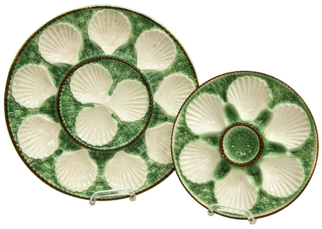 (20) FRENCH MAJOLICA CERAMIC SHELL OYSTER PLATES - 2