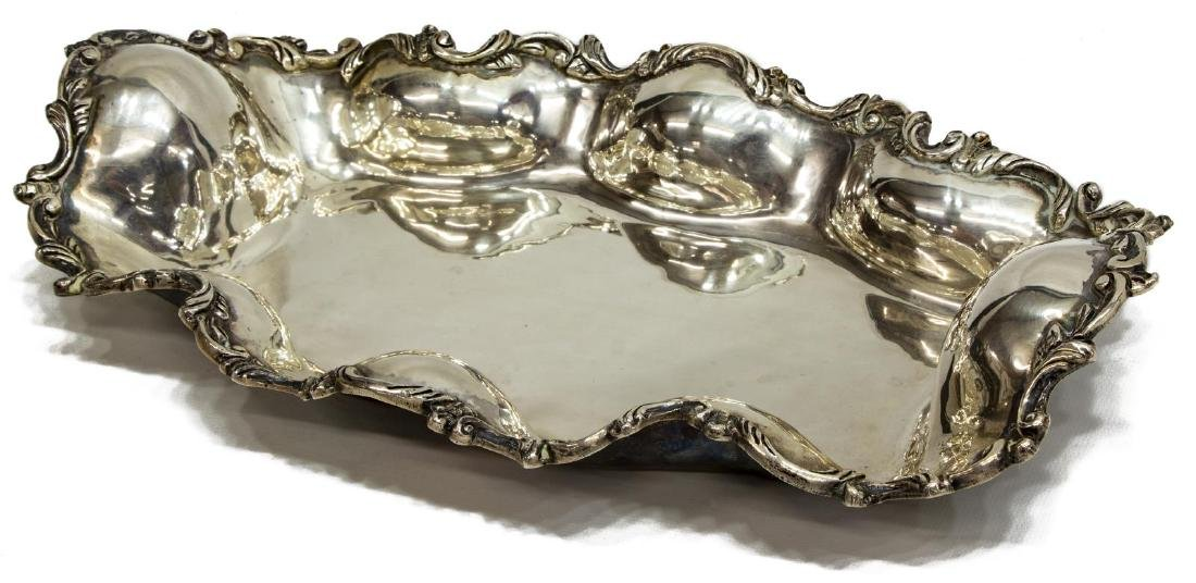 LONG SANBORNS STERLING SILVER SCROLLED TRAY