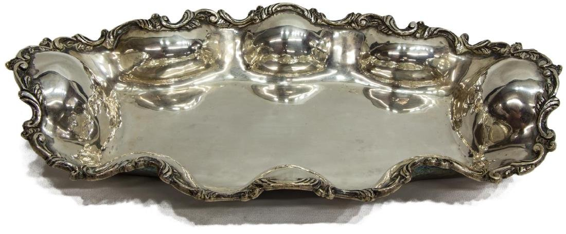 LONG SANBORNS STERLING SILVER SCROLLED TRAY - 2