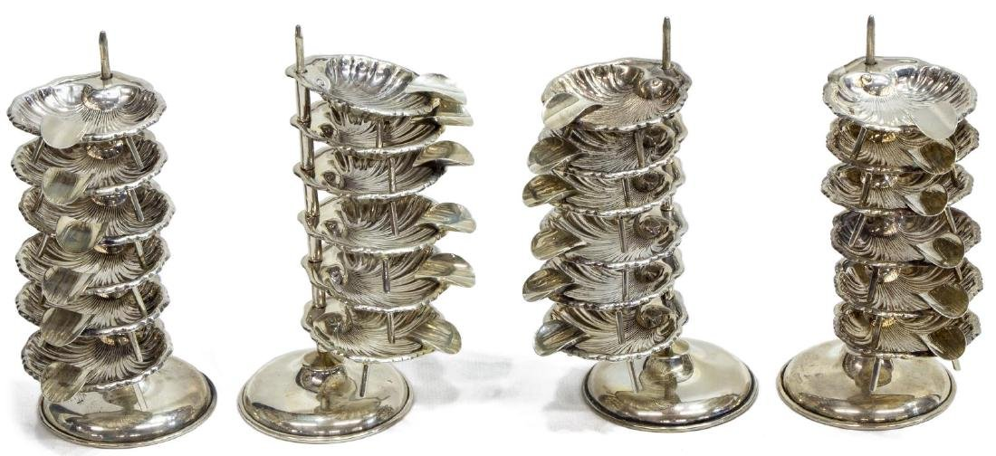 (4) MEXICO STERLING SILVER SALT TOWER SETS