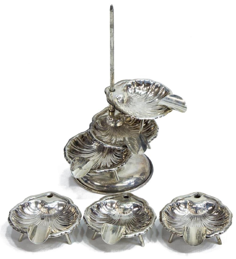 (4) MEXICO STERLING SILVER SALT TOWER SETS - 2