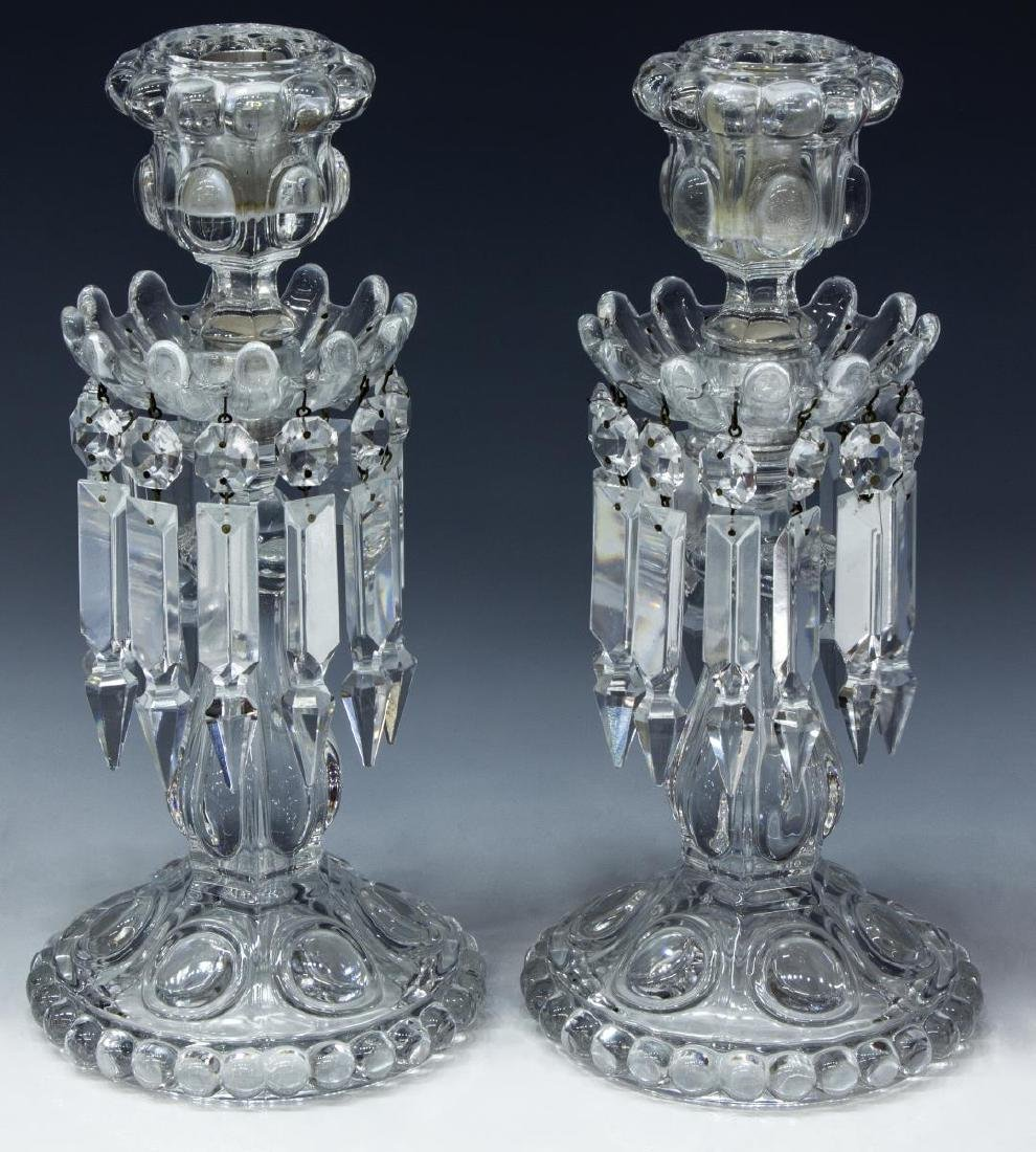 (PAIR) FRENCH BACCARAT CRYSTAL CANDLESTICK LUSTERS