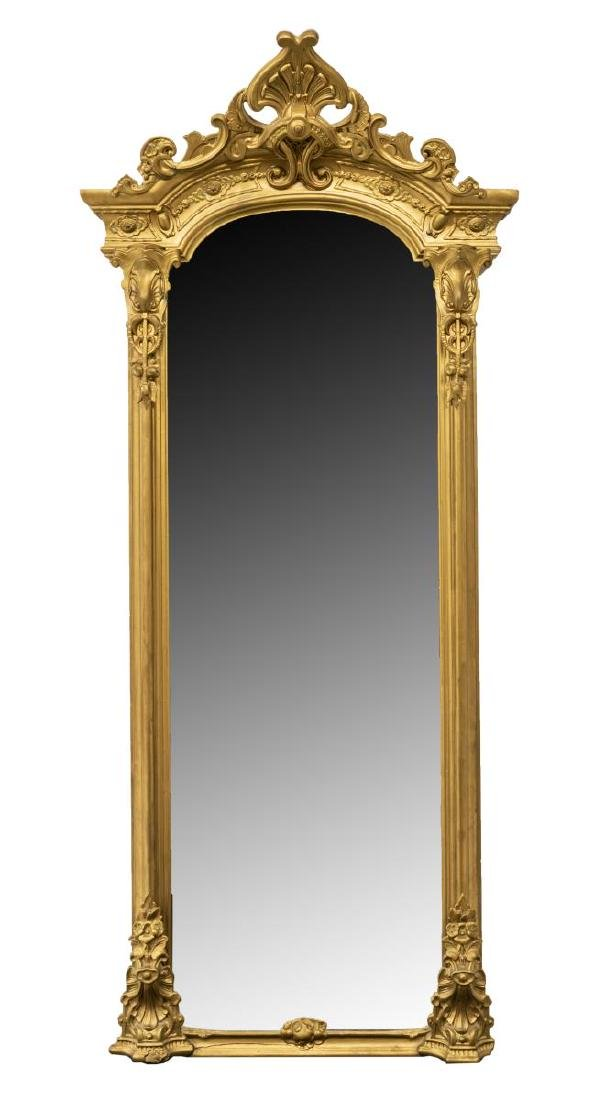 LARGE ORNATE VICTORIAN GILTWOOD PIER MIRROR