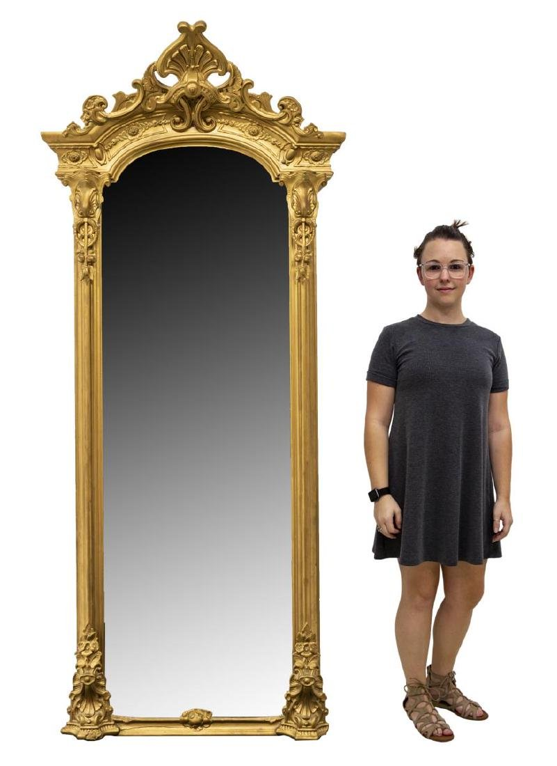 LARGE ORNATE VICTORIAN GILTWOOD PIER MIRROR - 2