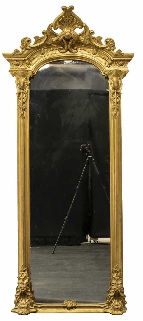 LARGE ORNATE VICTORIAN GILTWOOD PIER MIRROR - 3