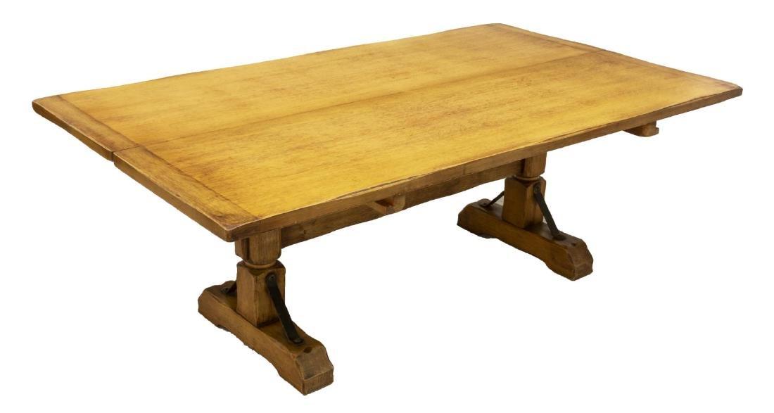 CALIFORNIA CORONADO HINGED HARDWOOD TRESTLE TABLE