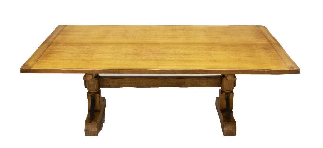 CALIFORNIA CORONADO HINGED HARDWOOD TRESTLE TABLE - 2