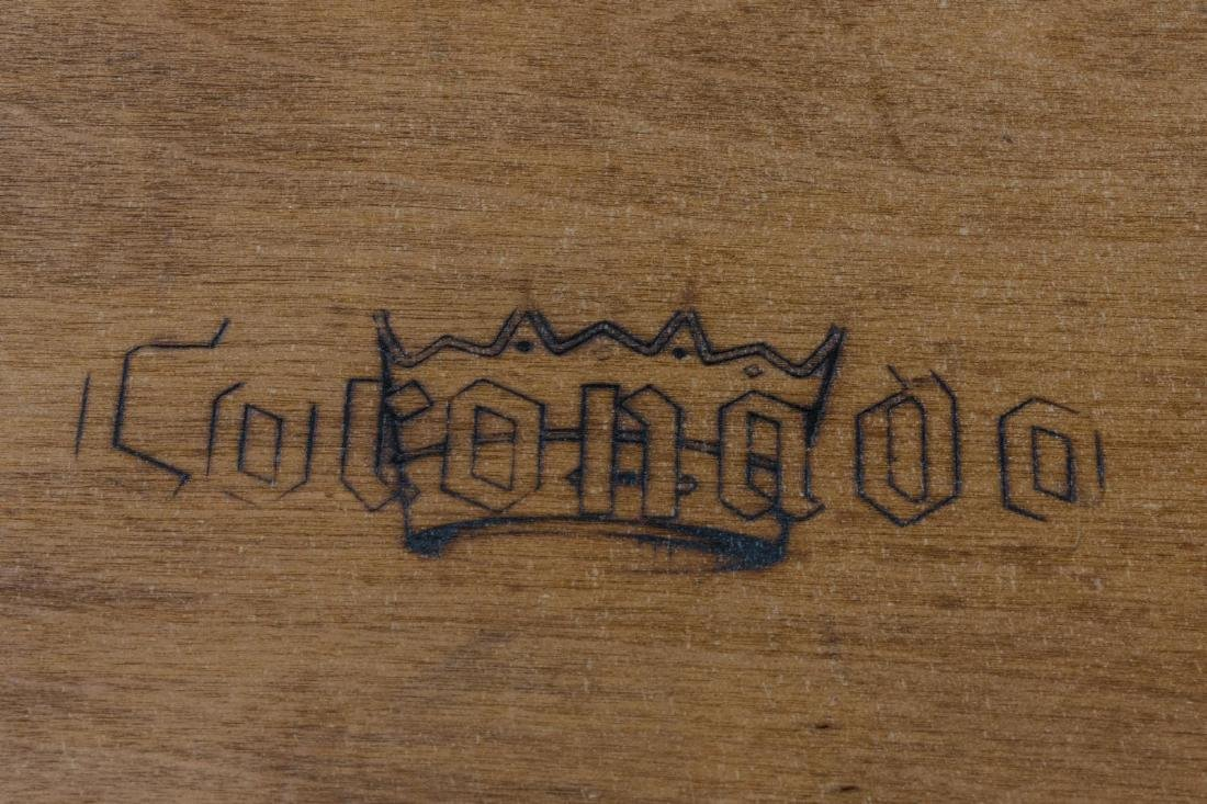CALIFORNIA CORONADO HINGED HARDWOOD TRESTLE TABLE - 4