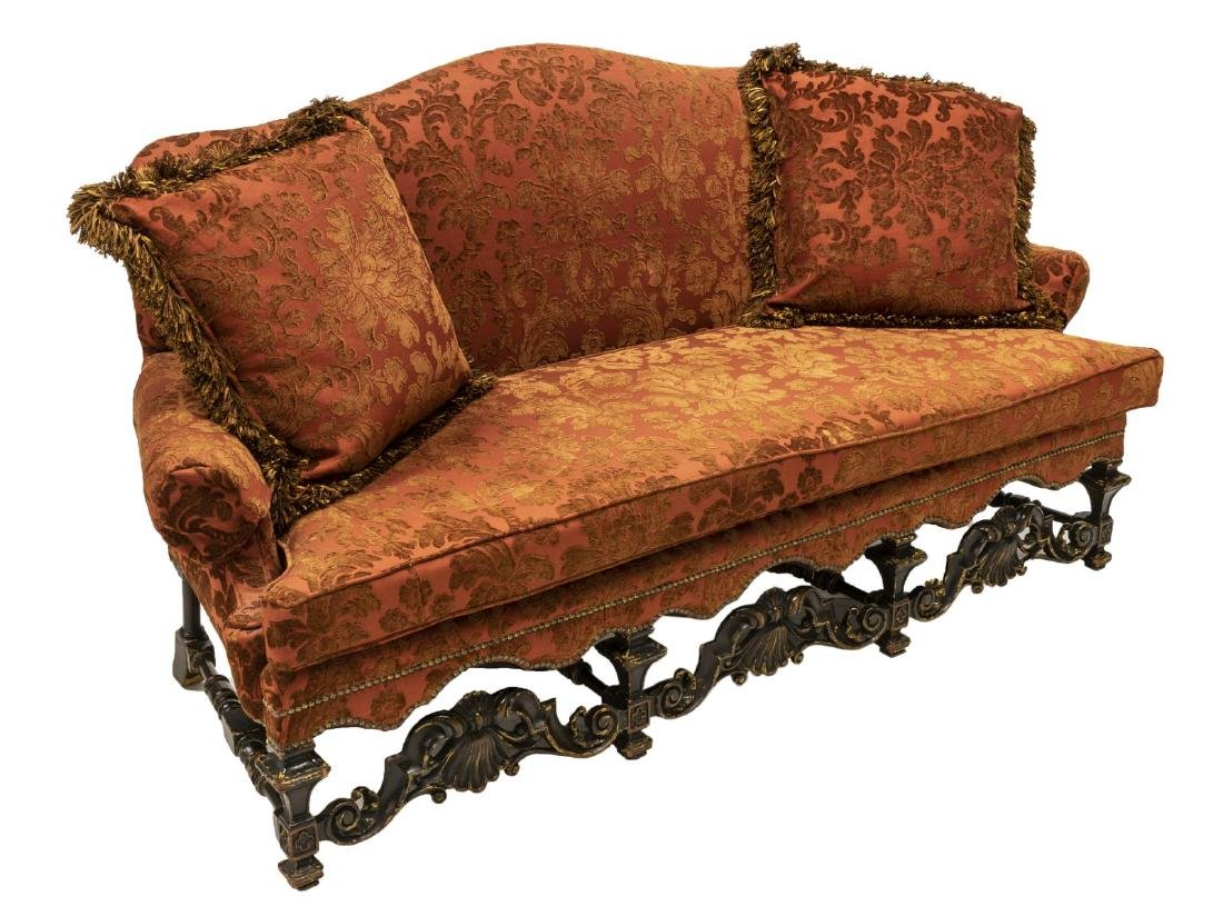 WILLIAM & MARY STYLE UPHOLSTERED SETTEE SOFA