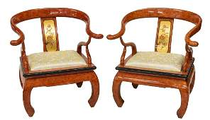 (PAIR) CHINESE MING STYLE ARMCHAIRS