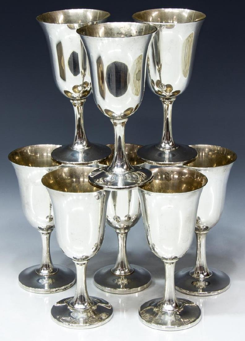 (8) AMERICAN WALLACE STERLING SILVER GOBLETS