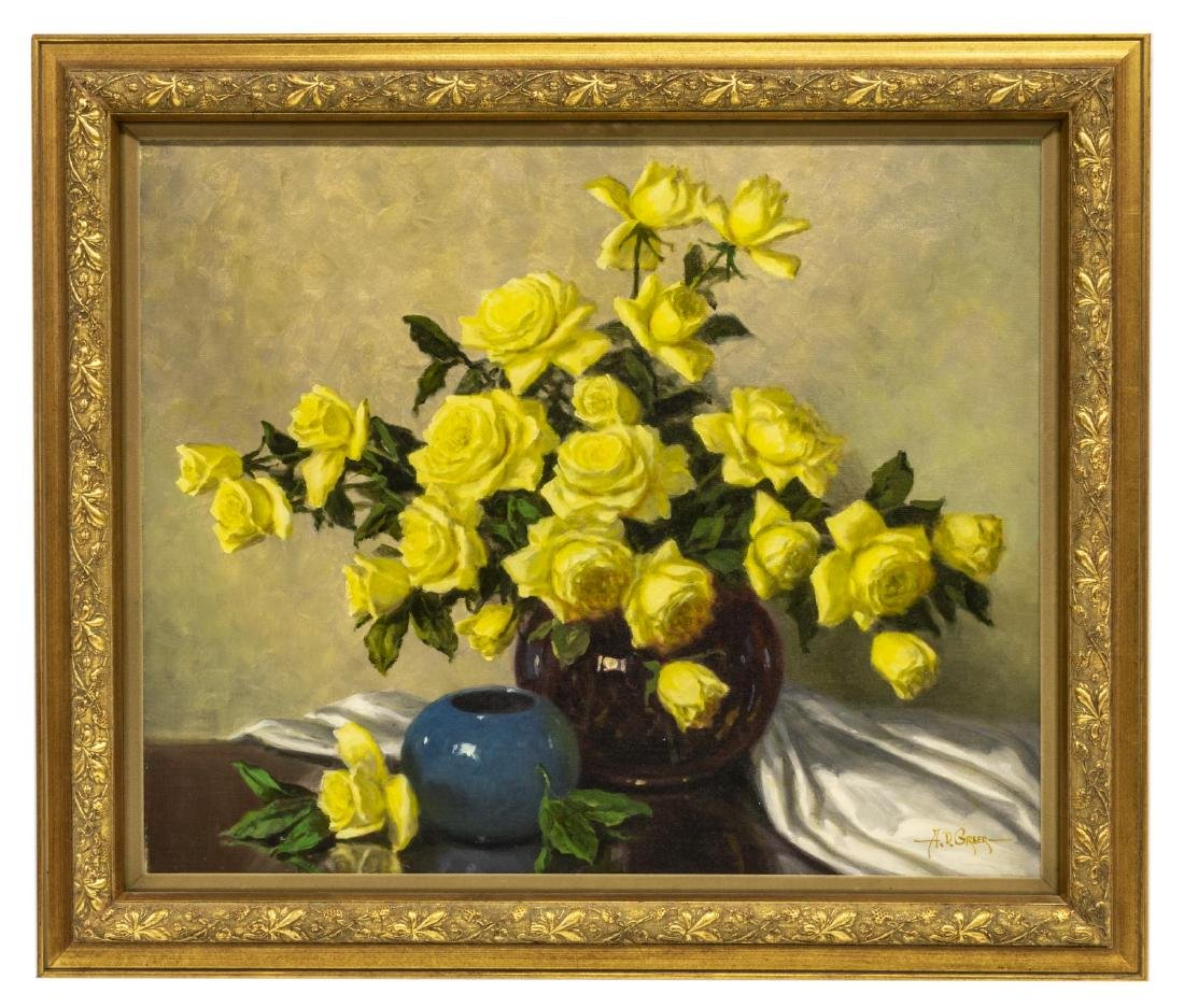 A.D. GREER (1904-1998), YELLOW ROSES - 2