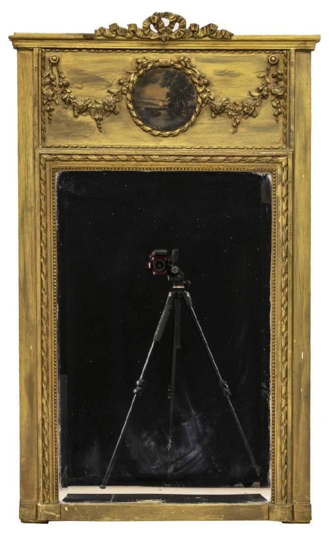 FRENCH TRUMEAU BEVELED MIRROR LANDSCAPE PAINTING - 2