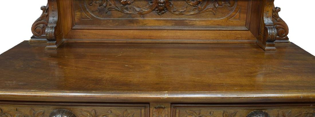 BLACK FOREST CARVED MAHOGANY HUNTING SIDEBOARD - 3