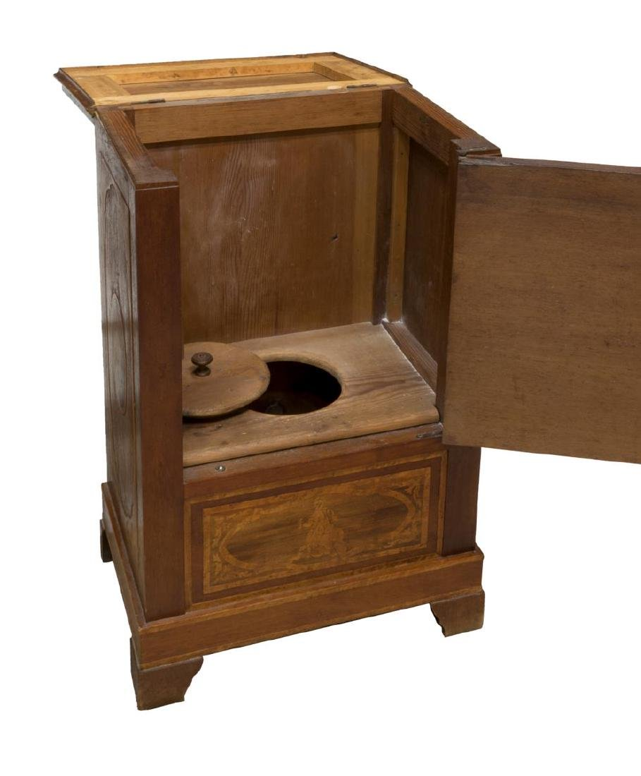 (2) ITALIAN BEDSIDE CABINETS W/ FIGURAL MARQUETRY - 2