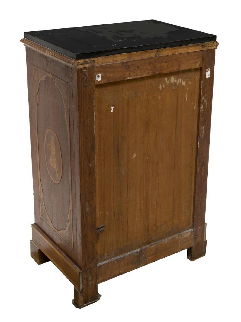 (2) ITALIAN BEDSIDE CABINETS W/ FIGURAL MARQUETRY - 3