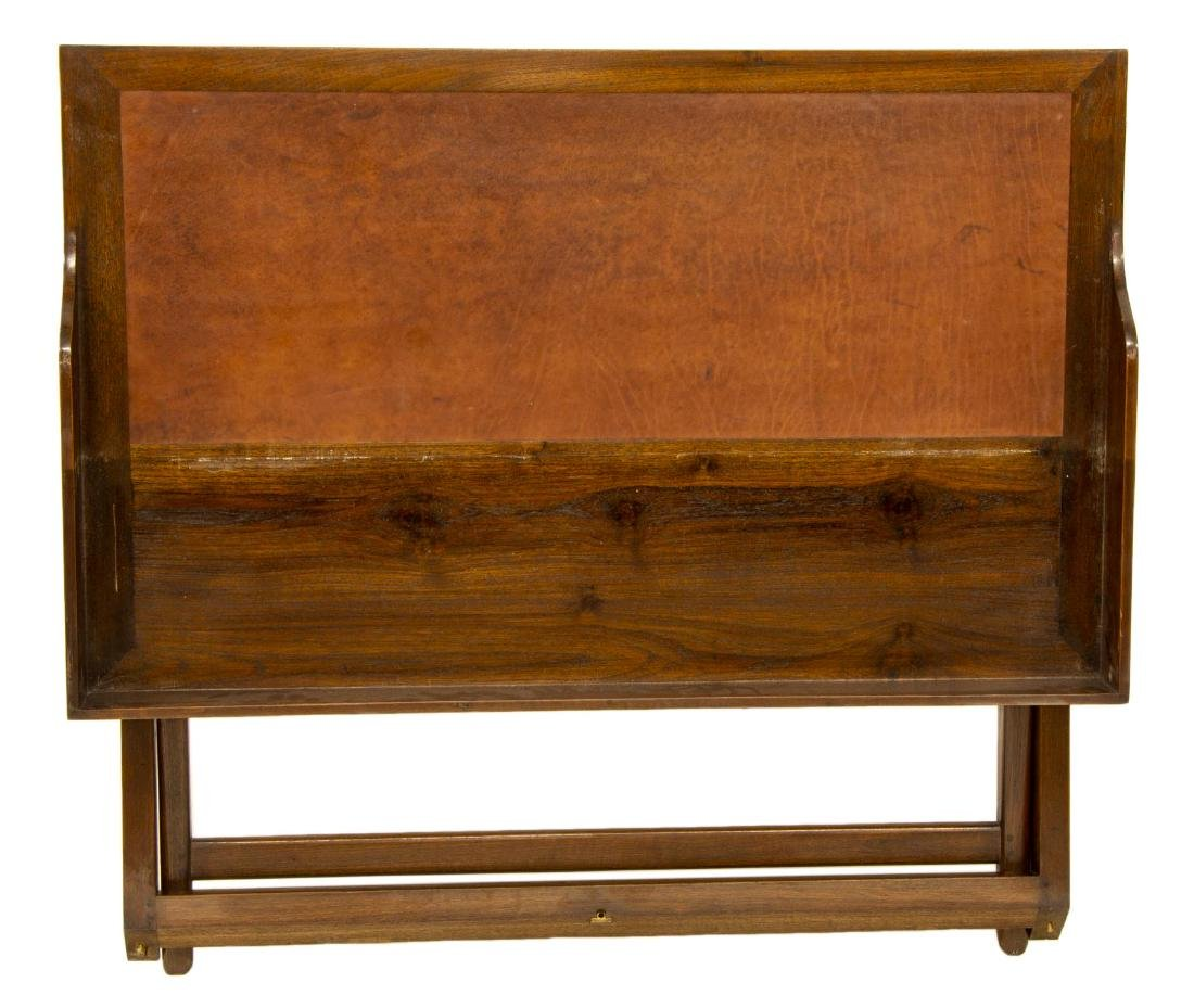 CAMPAIGN STYLE LEATHER TOP WRITING DESK - 3