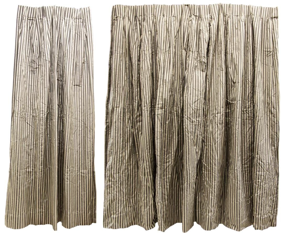 (6) DECORATOR PLEATED SILK LINED DRAPERY PANELS - 2