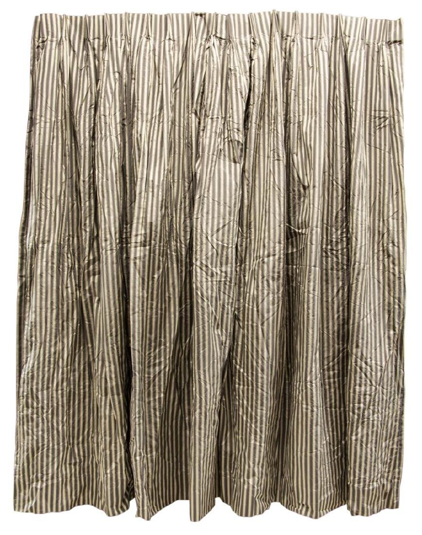(6) DECORATOR PLEATED SILK LINED DRAPERY PANELS - 4
