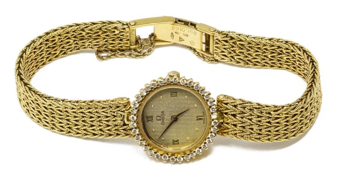 ESTATE OMEGA 18KT GOLD & DIAMOND WRISTWATCH FOR SCRAP